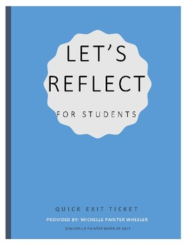 Student Lesson Reflection Exit Ticket