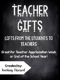 Student Letter + GIFT TAGS for Teacher Appreciation