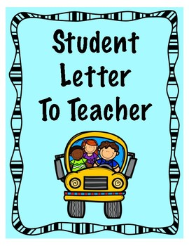 Student Letter To Teacher