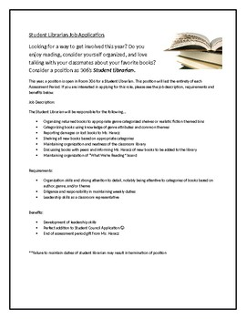 Student Librarian Application