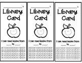 Student Library Cards - Accelerated Reader