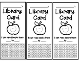 Student Library Cards - Accelerated Reader upper levels