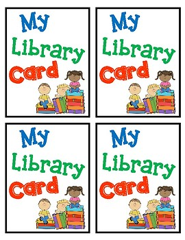Student Library Cards with Lexile Score, Range, & Grade Level