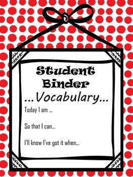 Student Literacy Binder Organization (color)