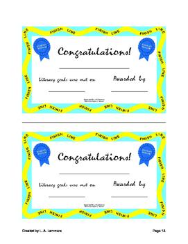 Student Literacy Goals and Rewards