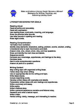 Student Literacy Goals and Rewards