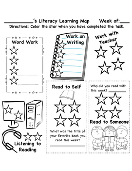 Student Literacy Learning Map
