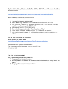 Student Loan Information Project