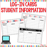 Student Log In Cards Digital Learning