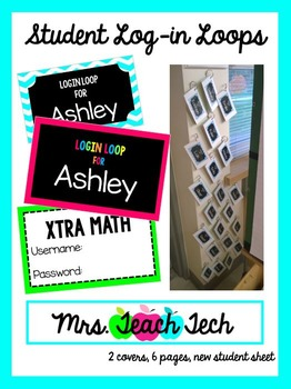 Student Log-In Loops {Completely Editable}