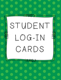 Student Log-in Cards