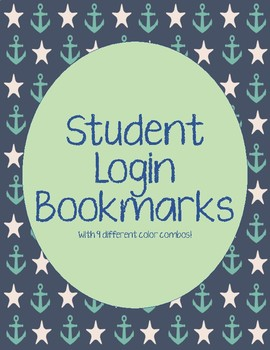 Student Login Bookmarks