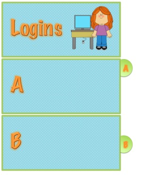 Student Login Information Cards