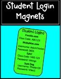 Student Login Magnets | EDITABLE FREEBIE