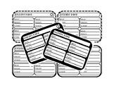 Student Login Recording Sheets EDITABLE Bundle