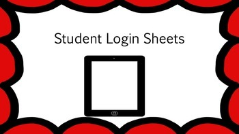 Student Login Sheets