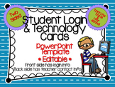 Student Login and Technology Cards