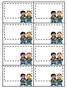 Student Lunch Cards EDITABLE
