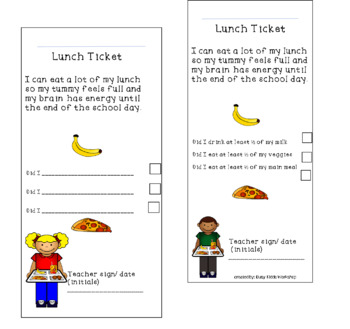 Student Lunch Tickets