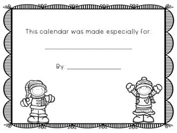 Student Made Calendar 2019