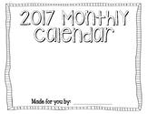 Student Made Calendar 2017 (Parent Gift)
