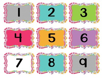 Student Mailbox Numbers (Sized for Target dollar spot adhesive label pockets)