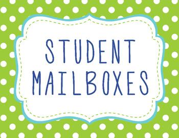 Student Mailbox Sign