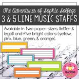Student Manipulatives:  3 & 5-Line Music Staffs