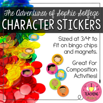 Student Manipulatives:  Sophie Solfege Character Stickers