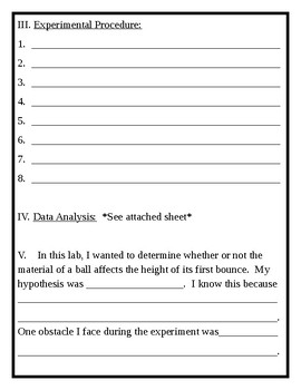 Student Marble Lab Packet
