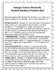 Student Mastery Checklist GA Science Standards (5th)