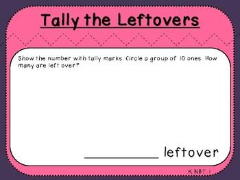 Student Mat-Tally Mark Leftovers (Kindergarten-K.NBT.1)