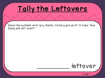 Student Mat-Tally Mark Leftovers (Kindergarten-K.NBT.1)
