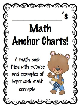 Student Math Anchor Chart Poster Book