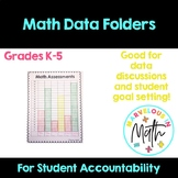 Math Data Folders for Students