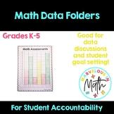 Math Data Folders for Students