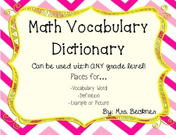 Student Math Dictionary