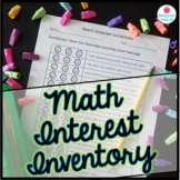 Student Math Interest Inventory - Primary, Early Elementary