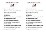 Student Math Problem Solving Checklist