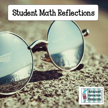 Student Math Reflection Sheet