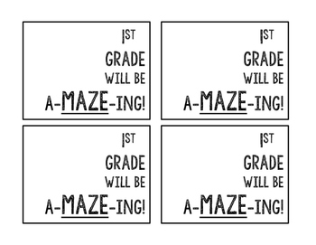 Student Maze Gift Tag