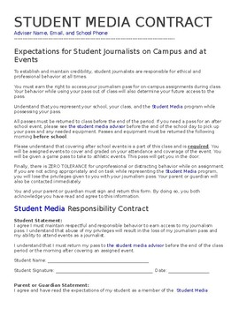 Student Media Contract