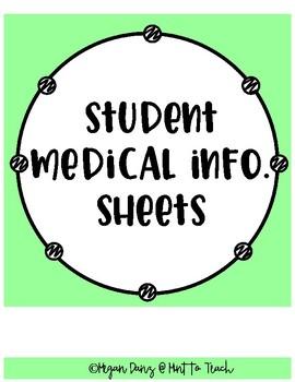Student Medical Information Sheet