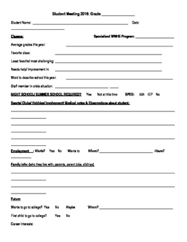 Student Meeting Template