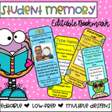 Student Memory Bookmark *Editable*