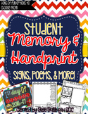 Student Memory & Handprint Book Bundle! (Many different op