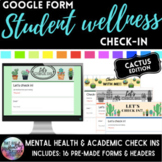Student Mental health & academic check-in google forms: Cactus