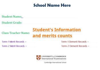 Student Merit and Demerit Records Card System Template Procedures