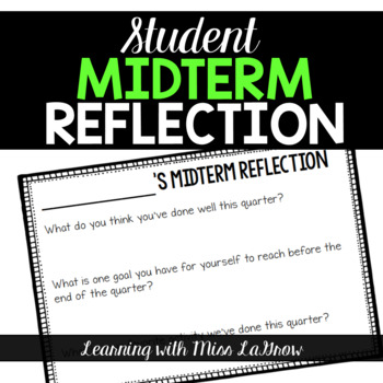 Student Midterm Reflection Sheet Form