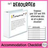 Student Modification and Accommodation Checklist. Confidential Information.